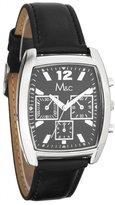 MC M&c Men's Elegant Chronograph Style PU Leather Band Watch