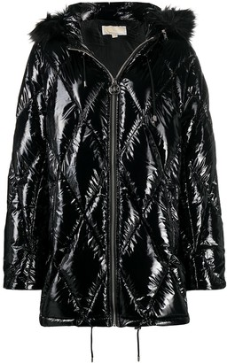 MICHAEL Michael Kors Diamond-Quilted Padded Coat