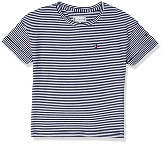 Tommy Hilfiger Girl's Striped Elastic Hem S/s T-Shirt