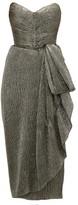 Maria Lucia Hohan Marie Sweetheart-neckline Metallic Dress - Womens - Dark Grey