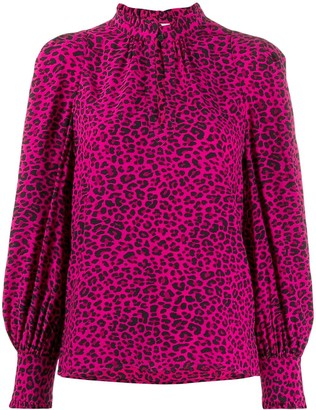 Zadig & Voltaire Titus print long sleeve blouse