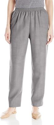 Alfred Dunner Women's Petite Average Pant Gray 14P