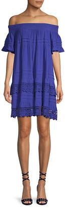 1st Sight Crochet Lace A-Line Dress