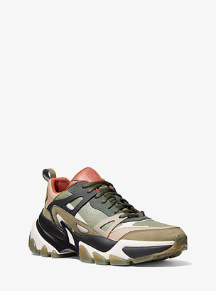 Michael Kors Nick Leather Trainer - Army