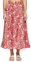 Lisa Marie Fernandez Women's Tomato Floral Linen Skirt