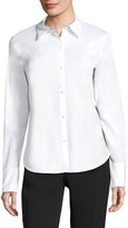 Lafayette 148 New York Linely Italian Stretch Cotton Blouse