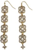 "RJ Graziano Live for Lux"" Knot Drop Pave Earrings"