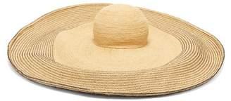 Lola Hats Spinner Bis Raffia Hat - Womens - Black