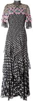 Peter Pilotto tiered crochet overlay dress - women - Silk/Polyamide/Polyester - 10