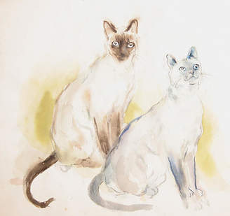 One Kings Lane Vintage Two Siamese Cats by Marshall Goodman - RoGallery Art
