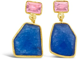 Gem Bazaar Jewellery Pink & Blue Earrings