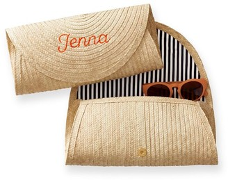 Palm Leaf Rounded Clutch