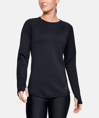 Under Armour Women's Tee Shirts Black - Black ColdGear Long-Sleeve Tee - Women