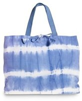Tie-dyed canvas tote bag