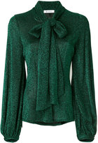 Dondup shimmer tie-neck blouse