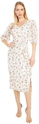 La Vie Rebecca Taylor Short Sleeve Isabella Dress (Creamsicle Combo) Women's Clothing