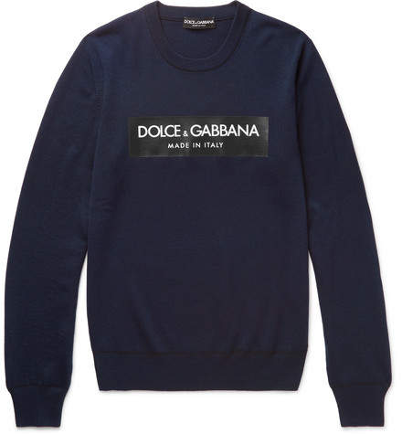 Dolce & Gabbana Printed Wool Sweater