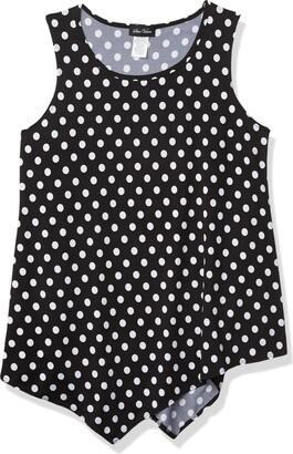 Star Vixen Women's Petite Slvless Classic Flattering Hanky Hem Smooth Knit Top