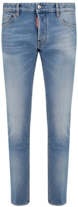 DSQUARED2 Low-Rise Faded Jeans