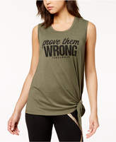 Jessica Simpson TheWarmUp Juniors' Graphic Side-Tie Tank Top