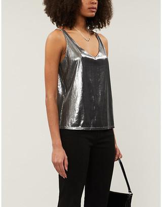 J Brand Febe metallic lamé camisole