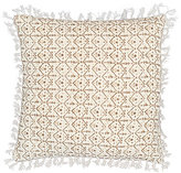 Pine Cone Hill Alanya Fringed Reversible Linen Square Pillow