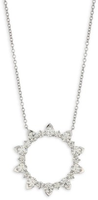 Hearts On Fire Aerial Eclipse Diamond & 18K White Gold Pendant Necklace