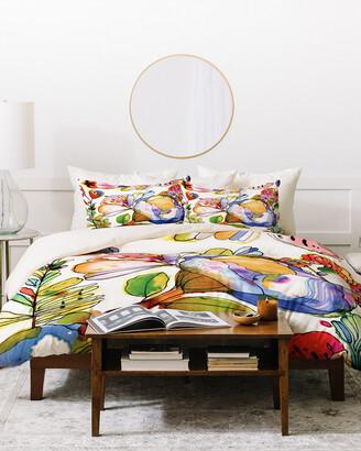 Deny Designs Cayenablanca Blossom Pastel Duvet Cover Set