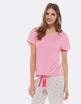 Deshabille All Night Tee Pink Marle