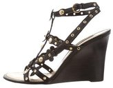 Louis Vuitton Embellished Leather Wedge Sandals