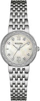 Bulova Diamonds Maiden Lane Womens Diamond-Accent Bracelet Watch 96R203