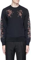 Alexander McQueen Bullion floral embroidered sweatshirt