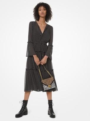 MICHAEL Michael Kors Mini Dot-Print Georgette Tiered Dress