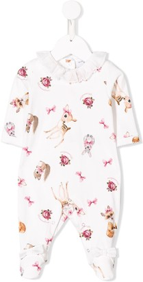 MonnaLisa pyjamas with illustrations of animals
