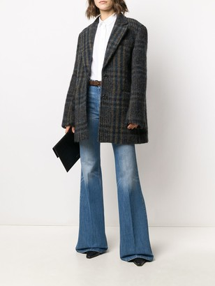 VVB Chaqueton plaid coat