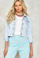 Nasty Gal nastygal The Edge Of Glory Cropped Denim Jacket