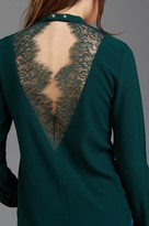 Dynamite Mock Neck Blouse with Lace