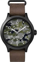 Timex Men's Expedition Scout 43 | Leather Band Camouflage Dial Outdoor TW4B06500