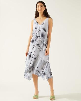 Jigsaw X Ray Floral Tiered Midi Dress