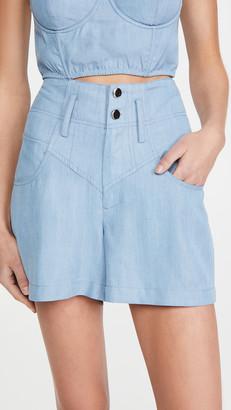 Fleur Du Mal High Waist Jean Shorts
