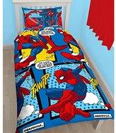 Marvel Ultimate Spiderman 'Webhead' Single Duvet Set - Repeat Print Design