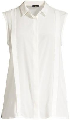 Peserico Sleeveless Silk Blouse