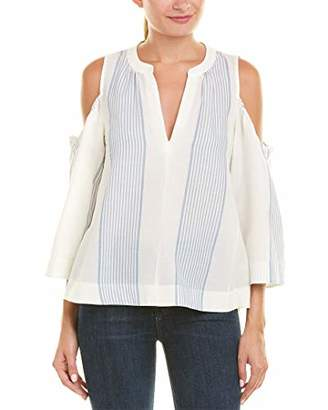BCBGMAXAZRIA Women's Elin Sleeveless Flowy Top with Cut Out Shoulders