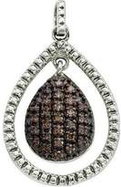 DazzlingRock Collection 0.40 Carat (ctw) Sterling Silver Round Diamond Ladies Pendant
