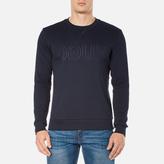 Hugo Dapone Logo Crew Neck Sweatshirt Navy