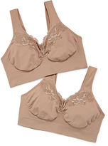 Just My Size Comfort 2-pack Pure Comfort Wireless Lace Bra - 1272