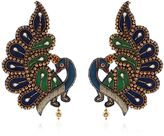 Gucci Peacock Feather Beaded Earrings