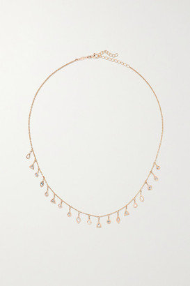 Jacquie Aiche 14-karat Rose Gold Diamond Necklace - one size