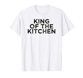 Mens King Of The Kitchen Vintage Cooking Chef T-Shirt