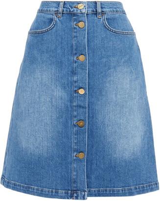 Frame Faded Denim Skirt